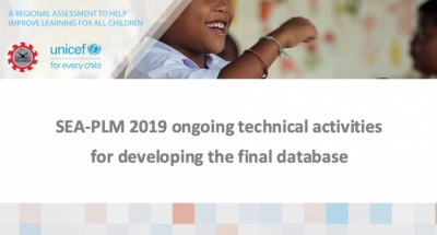 SEA-PLM 2019 ongoing technical activities for developing the final database